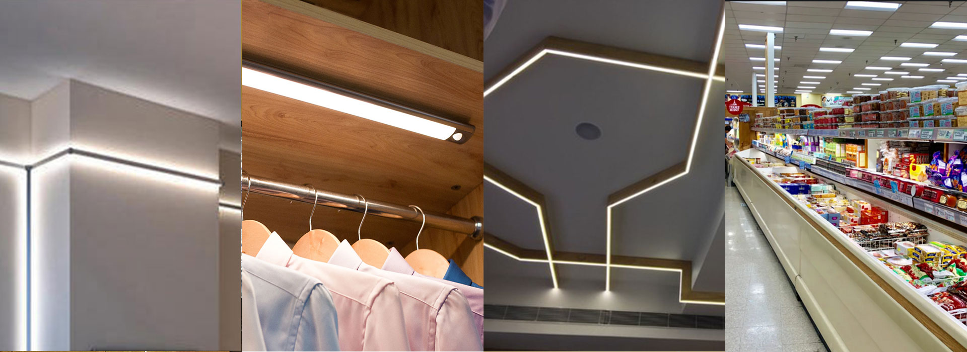 Application of LED strip light ideas installation channel