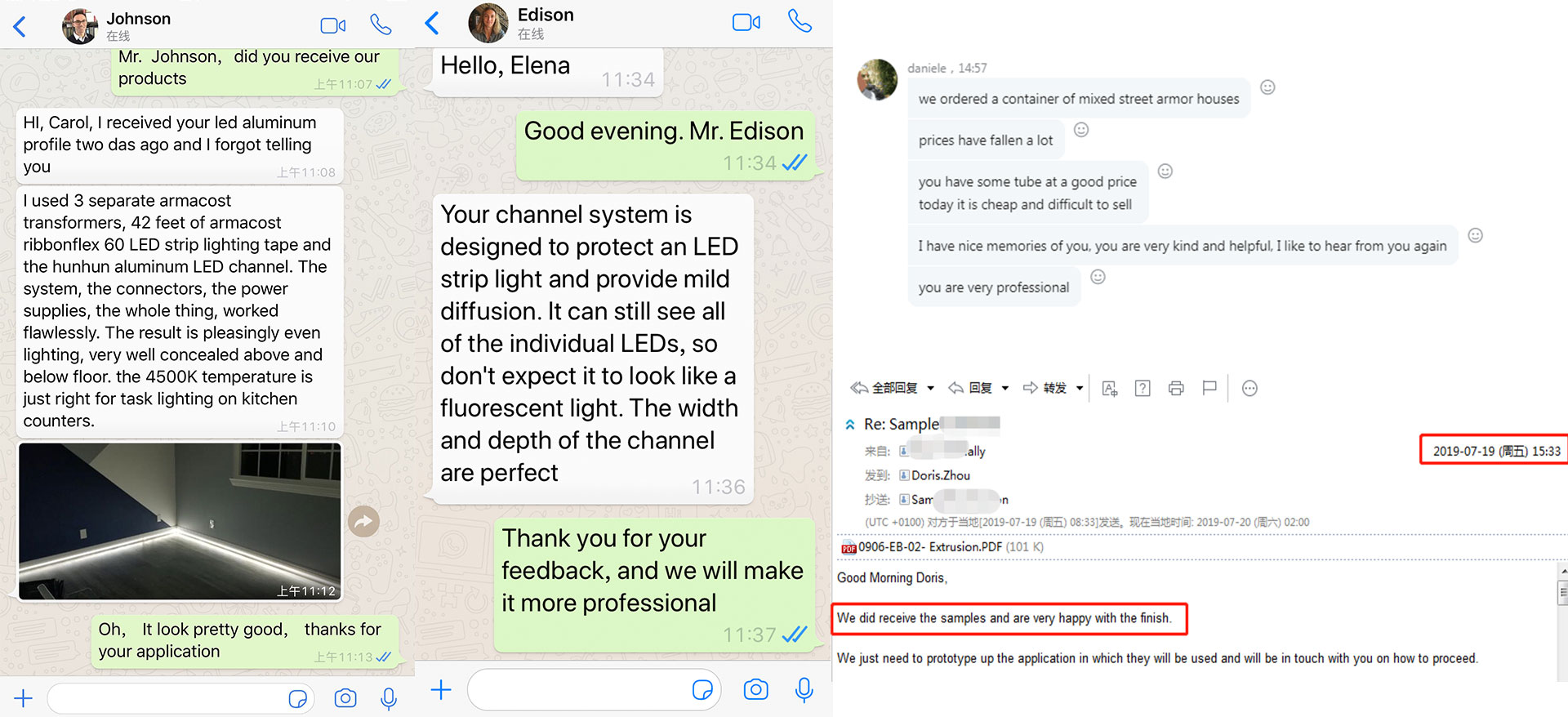 Comment of LED strip profile