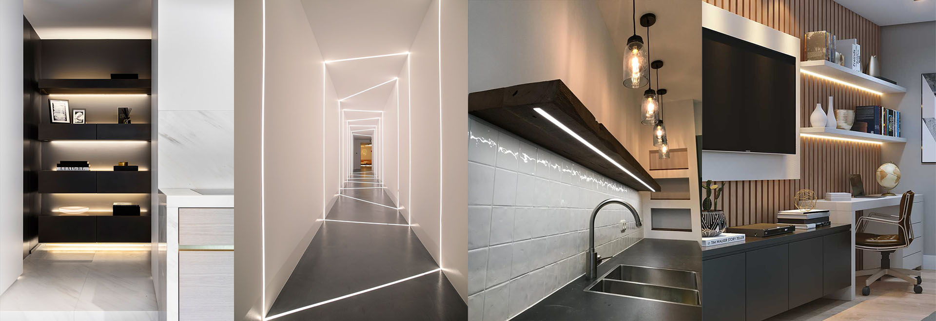Application of LED strip profile