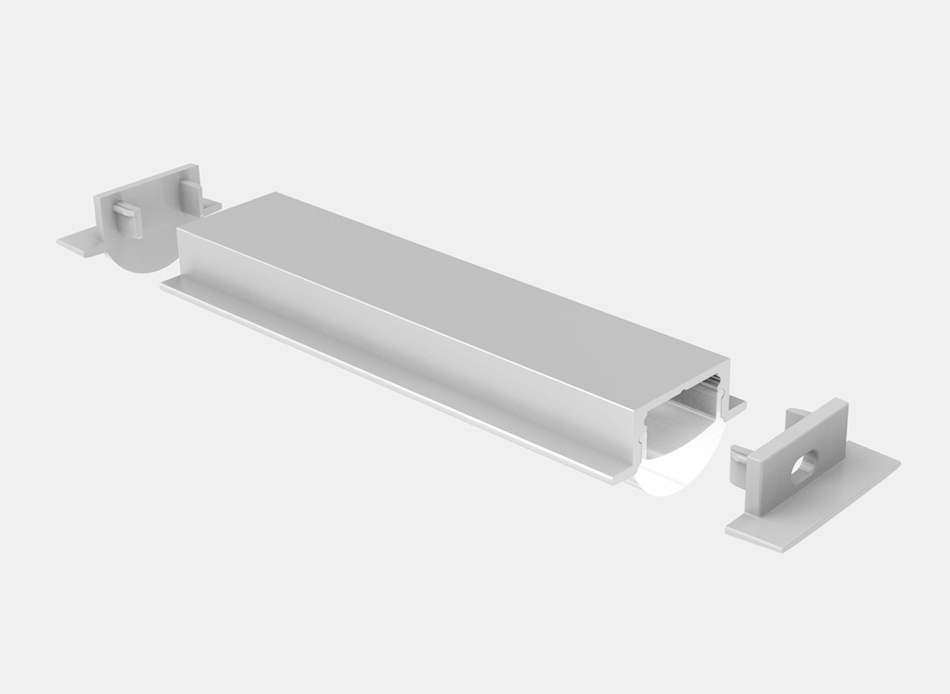 Recessed LED Strip Profile – L101B