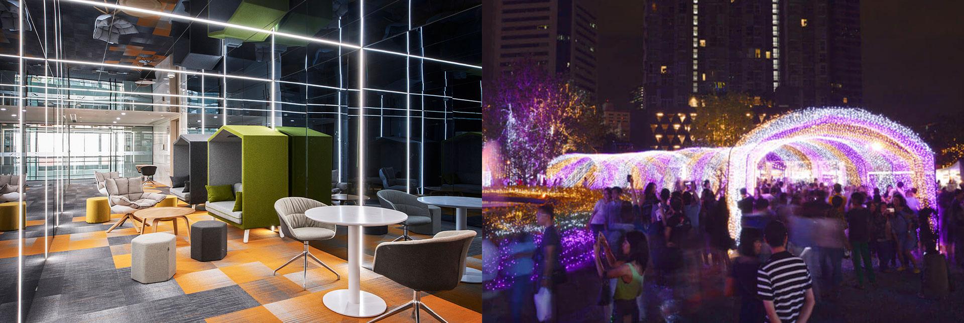 Application of housing for LED light strip
