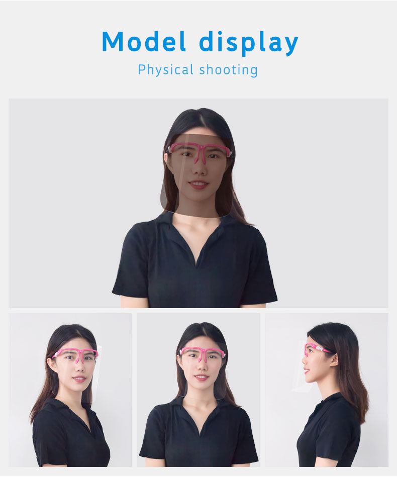 Glasses frame face shield